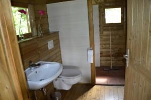 Indeling blokhut naturistencamping de groenlanden drenthe - Decoratie douche en toilet ...